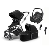 Thule Sleek duovagn + Maxi-Cosi Rock babyskydd & adapter