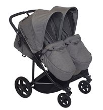 Basson Baby Duo Twin sittvagn 2019, grå