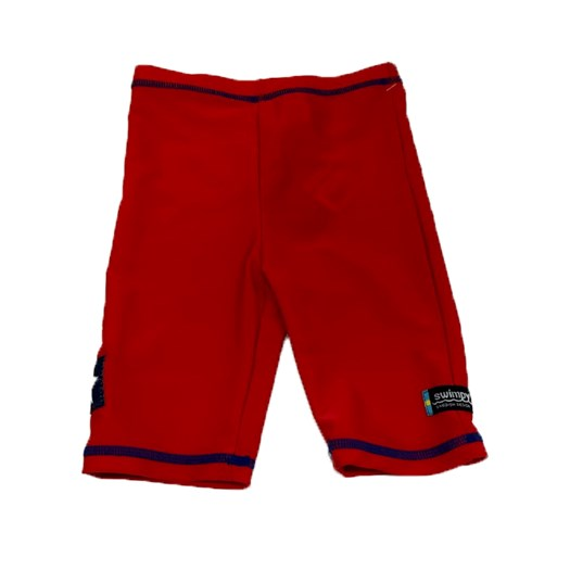 Swimpy UV-shorts Sealife röd, stl 122/128 2:a sortering