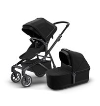 Thule Sleek duovagn, black on black