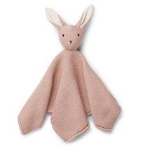 Liewood snuttefilt stickad Milo, rabbit rose