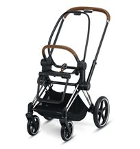 Cybex Priam chassi & sittdelsbas, chrome/brown