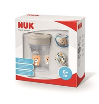 NUK Magic & Space set (mugg & napp+napphållare), grå