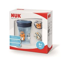 NUK Magic & Space set (mugg & napp+napphållare), blå