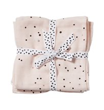 Done by Deer burp cloth 2-pack, dreamy dots powder