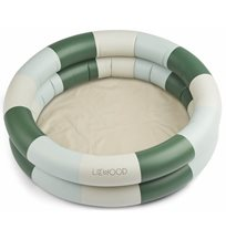 Liewood pool Leonore, rand garden green/sandy/dove blue