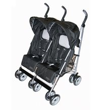 Basson Baby Travel Twin paraplysulky, svart