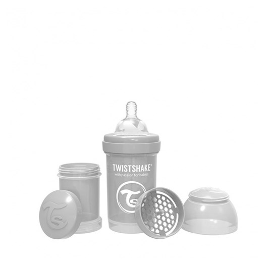 Twistshake Anti-Colic flaska 180 ml, grå