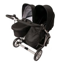 Basson Baby Duo Twin sittvagn inkl. 1 liggdel, svart
